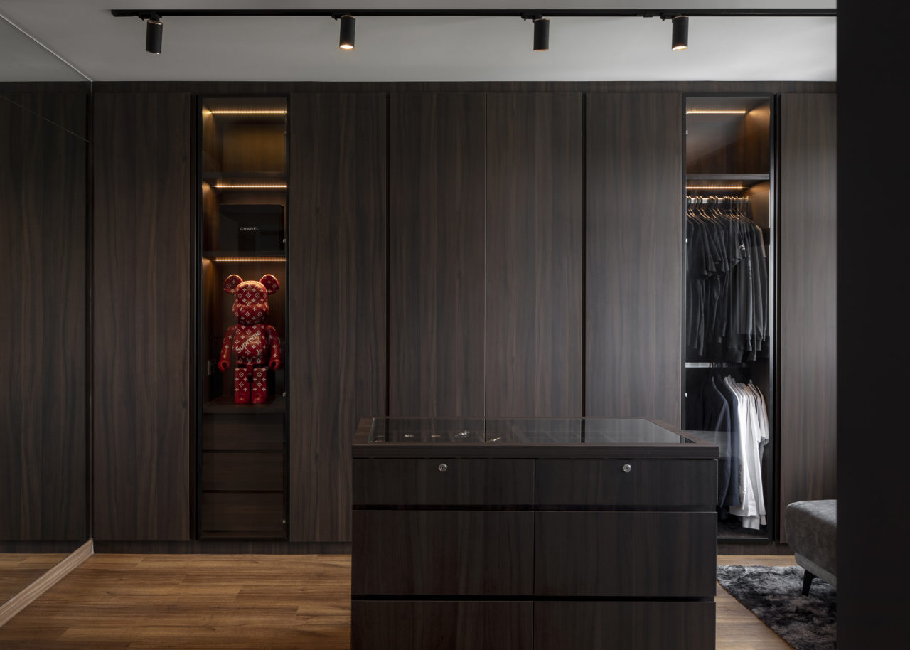 ascend design Canberra Road walk-in wardrobe closet