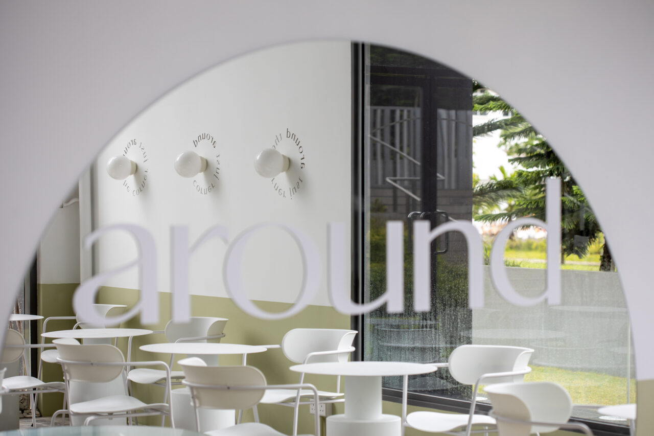 ascend design ice cream waffles cafe interior around 2