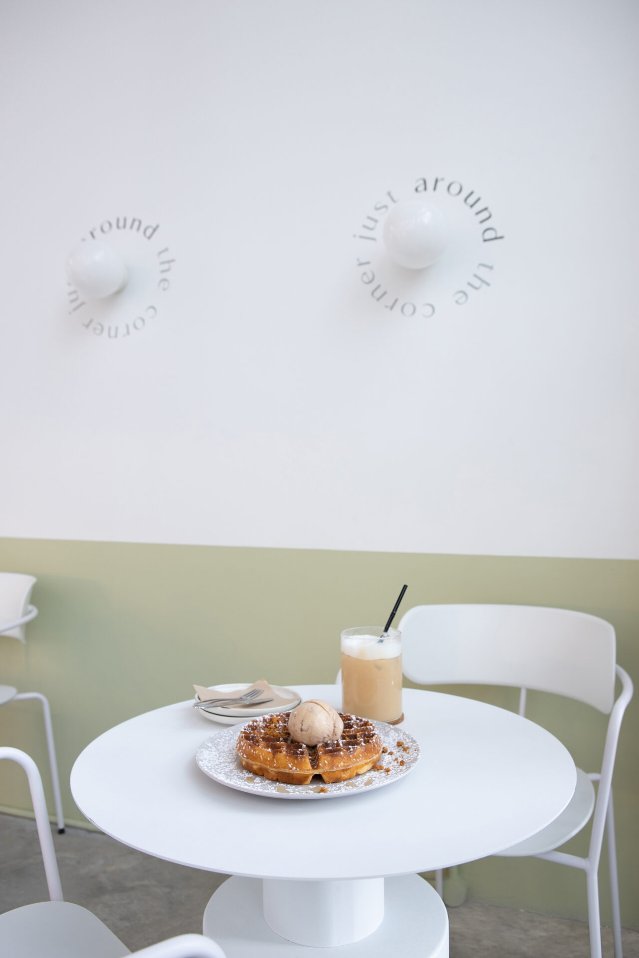 ascend design ice cream waffles cafe interior food 2